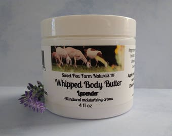 Essential Oil Whipped Body Butter-Lavender-All natural with lavender essential oil