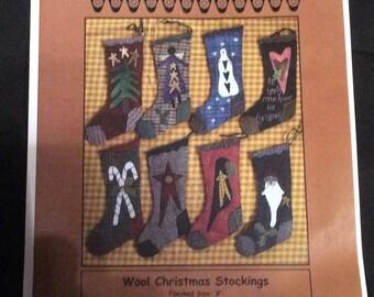 Pattern--Wool Christmas Stockings by Primitive Gatherings