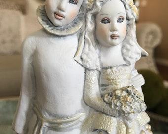 Helen Kish Love & Kishes Wedding Cake Topper Renaissance Faire Figurine New Bride Groom TYCAALAK