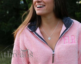 Charles River Newport Fleece Pullover, Monogrammed Pullover, Monogram Fleece, Quarter Zip, Personalized,Sherpa Fleece Pullover,Gifts for Her