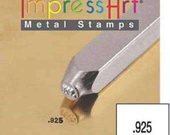 1.5mm .925 ImpressArt Metal Stamps Jewelry Stamps Metal Stamping Impress Art Metal Stamps