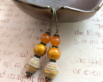 Autumn Lanterns - OOAK Earrings
