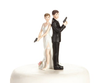Super Sexy Spy  Cake Topper Figurine - Custom Painted Hair Color Available - 706507