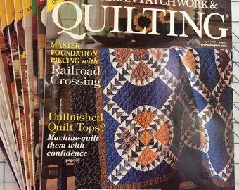 14 back issues of better homes and gardens american patchwork quilting magazines. beautiful ideas. Home Design Ideas