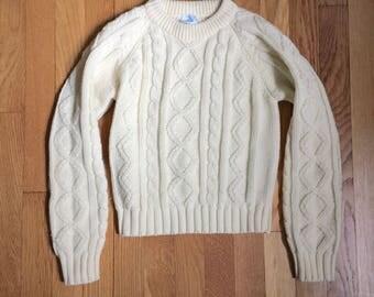 Vintage Kids Fisherman Sweater Small Medium