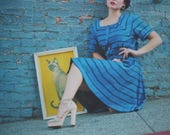 1950s/ Dress / 50s / Day / Blue / Dress For Women / Dress for Woman / Vintage / Astral Boutique