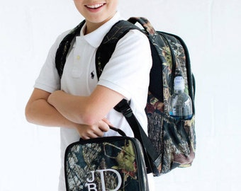 Camo - Woods - Backpack and Lunch Bag- Personalized