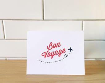 Bon Voyage (Gocco-printed card)