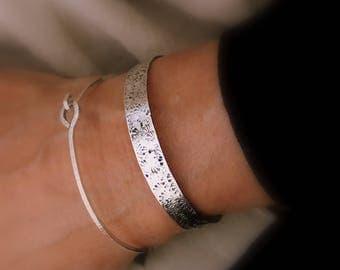 Silver Cuff Bracelet, Campo di Fiori Bracelet, Silver Bracelets, Stacking Bracelets, Cuff Bracelet, Handmade, Boho Chic, Silver Jewelry