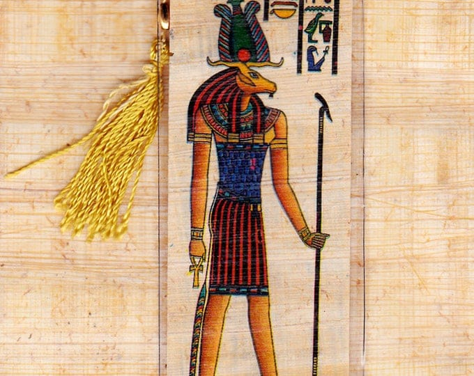 Khnum-God of the source of the Nile River. Genuine Egyptian Papyrus Bookmark. Great gift idea for teachers, kids, adults!  Unique!