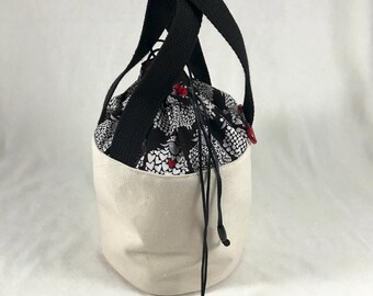 Will Ewe Be Mine - Black and Red - Bitty Bucket Bag