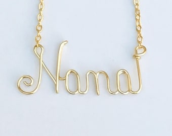 Nana gift. Nana Necklace. Nana Jewelry. Gifts for Nana. Mimi Necklace.