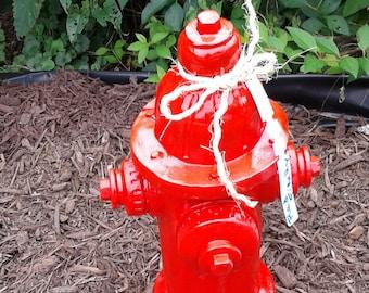 Red Fire Hydrant - Concrete
