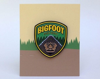 Bigfoot Patrol enamel pin