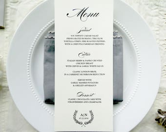 Wedding Menu  |  Instant Download PDF - Printable Wedding Menu  |  Menu  |  Instant Download Template  |  Branches Collection Style 04