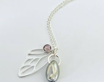 Breastmilk Jewelry/ Urn Jewelry/ Special Memory Necklace/ Butterfly Wing/Memorial Jewelry/Ashes Necklace/Pet Urn/Ashes Keepsake