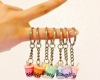 Bubble Milk Tea (Boba) Charm/ Necklace/ Key Chain