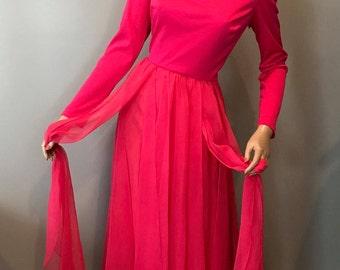 Miss Elliette fuchia maxi dress-S-M