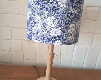 Handmade lampshade,  Reclaimed Cotton Fabric, 20cm diameter, Suitable for table lamp or Pendant Fitting