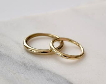 Mens Gold Wedding Ring Mens Gold Ring 14k Gold Mens Ring Mens Round Ring
