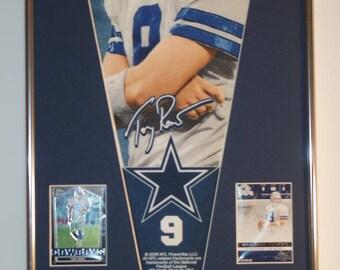 Dallas Cowboys Tony Romo Pennant & Cards...Custom Framed!!!