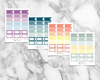 Medium Flags Stickers | Classic | Flex | A5 | Daily Planner | IWP Coil Free