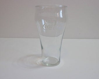 Vintage Collectible Coca Cola Enjoy Coke! Soda Logo Clear Drinking Glass Pop Nostalgia Gift Nineties Kitsch Tumbler, Advertising Memorabilia