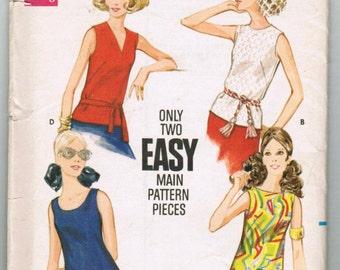 Vintage Butterick Pattern 5687,Misses Blouse, Size 10, Uncut