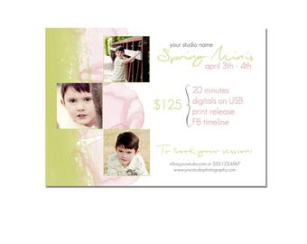 Spring Mini Session Photography Template - Marketing Template - - Watercolor - Summer - Easy - Photography Marketing Template