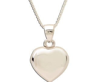 Sterling Silver Classic Locket Heart Charm Necklace with Gift Box  (BCN-Locket-Classic)