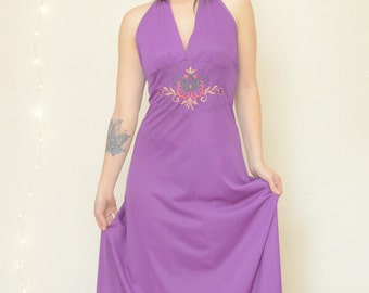 Purple Vintage Maxi Dress