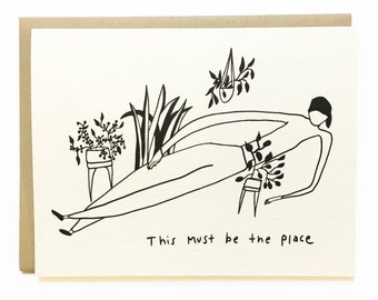 This Must Be the Place - Home - Illustrated Talking Heads New Home Card - Blank Inside