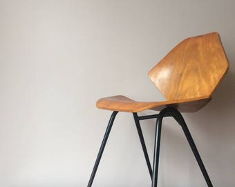 SOLD Mid Century CHAIR by KANDYA Franke Guille Plywood British Design Classic Furniture Jason Chair C3