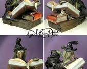 Commissioned Witch Leather Sculpture. OOAK Art Doll (RESERVED)