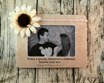 Personalized Wedding gifts for Parents of the groom gift from bride, Today a groom tomorrow a husband frame