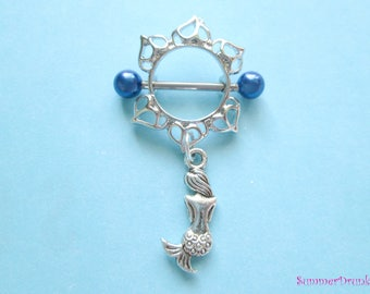 Mermaid nipple ring, Nipple piercing,nipple piercing , Nipple jewelry,Mermaid nipple jewelry, Nipple ring, Boho nipple ring, Dreamcatcher