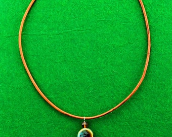 Round Porcerlain  Bead Necklace
