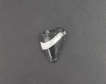 Zebra Jasper Heart Cabochon, 25mm x 18mm, cabochon, cab,black and white heart, jasper heart, heart stone, black and white, medium size heart