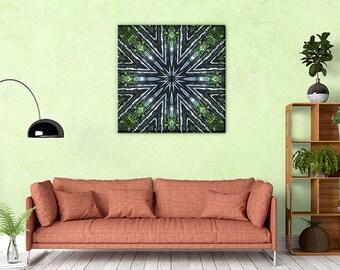 Bamboo Mandala Art ~ Inspirational Wall Art ~ Nature Canvas Print ~ Feng Shui Wood Element ~ Wall Decor for Health & Well-being
