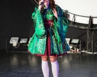 Wa-lolita green costume