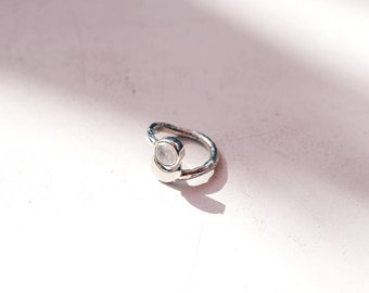 Selene Moonstone Ring handmade, sterling silver 925, witch, witchcraft, magic, tarot, mystic, spiritual, psychic, customizable, moon