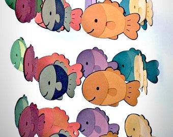 Baby Mobile, Fish Baby Mobile, Fish Nursery Mobile, Fish Nursery Decor, Fish Nursery, Custom Colors, Girl Baby Mobile, Boy Baby Mobile,