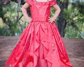 Elena Dress / Disney Inspired Princess Elena of Avalor Inspired Costume / Ball gown style for toddler, child, girl