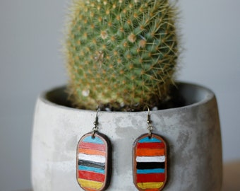 Serape Collection Olivia Earrings | Leather Earrings | Birthday Gift | Anniversary | Gifts under 25 | Handmade | Gifts for Her