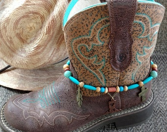 Western Boot Anklet, Cowboy Boot Anklet, Cowboy Boot Bracelet, Boot Anklet, Boot Bracelet, Boot Jewelry, Cross Boot Anklet, Rodeo Wear,