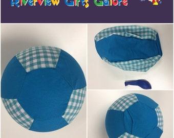 Balloon Ball Cover - Blue Checks