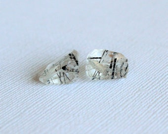 Rutilated Quartz- Chunky Step Cut 16mm