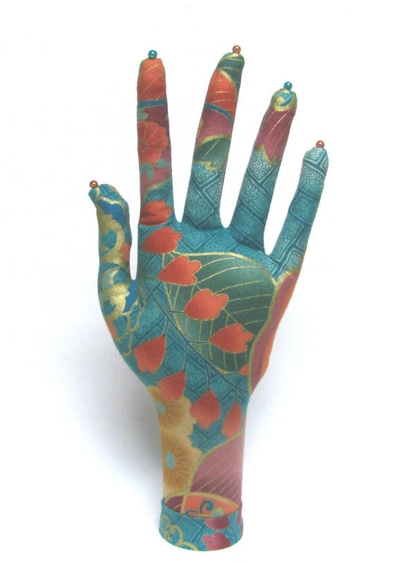 CLASSIC Leaves Fabric HAND-Stand ~ Jewelry Display ~ Ready to Ship