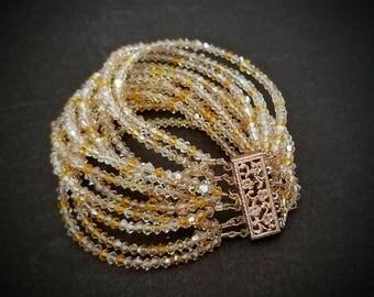 12 Strand Swarovski Bracelet