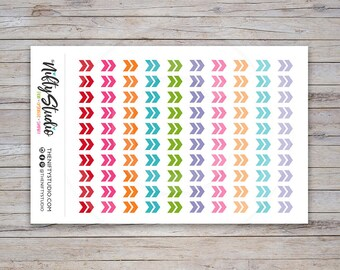 Chevron Arrow Planner Stickers | Planner Stickers | The Nifty Studio [109]
